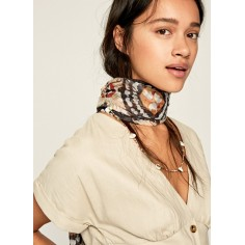 printed scarf.