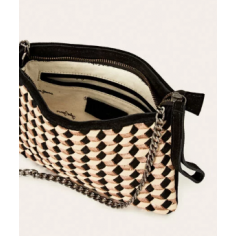 Braided leather bag